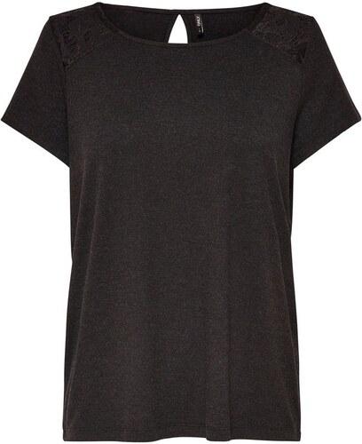 0b360689715f ONLY Κοντομάνικη μπλούζα με δαντέλα - Glami.gr