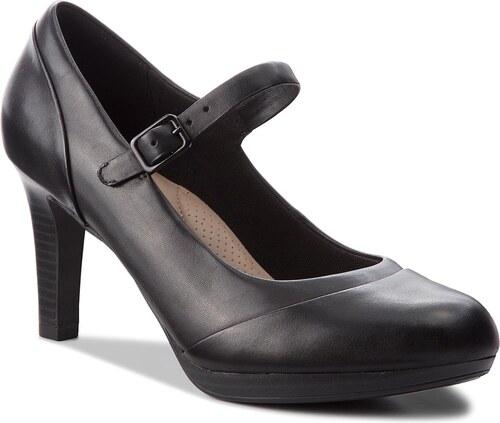 Κλειστά παπούτσια CLARKS - Adriel Carla 261363764 Black Leather ... 458c7c50548