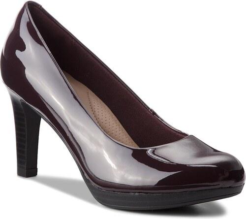 Κλειστά παπούτσια CLARKS - Adriel Viola 261363804 Aubergine - Glami.gr 407b4b467ef