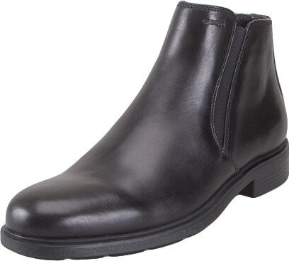 98acdfa4d1a Geox U34R2D 00043 C9999 Duplin smooth leather Blak ankle boots everyday  comfort