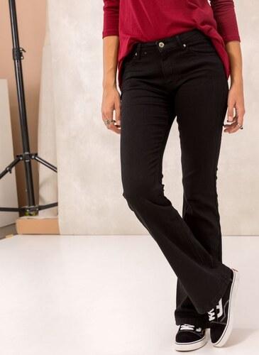 c63b1993f16 The Fashion Project Ψηλόμεσο jean παντελόνι καμπάνα - Μαύρο - 004 ...