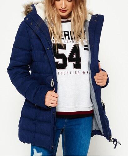 1611ddd05b1e Superdry Ανοιχτό μπλε Tall Marl Toggle Puffle γυναικείο μακρύ (παρκα)  μπουφάν με εσωτερική φούτερ