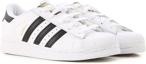 Adidas Παιδικά Παπούτσια για Αγόρια Σε Έκπτωση, Λευκό, Δέρμα