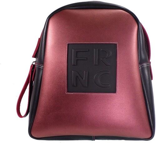 FRNC FRANCESCO Τσάντα Γυναικεία Πλάτης-Backpack 1202 Μαύρο-Μπορντώ Δέρμα frnc  1202 mauro- a8c97b84819