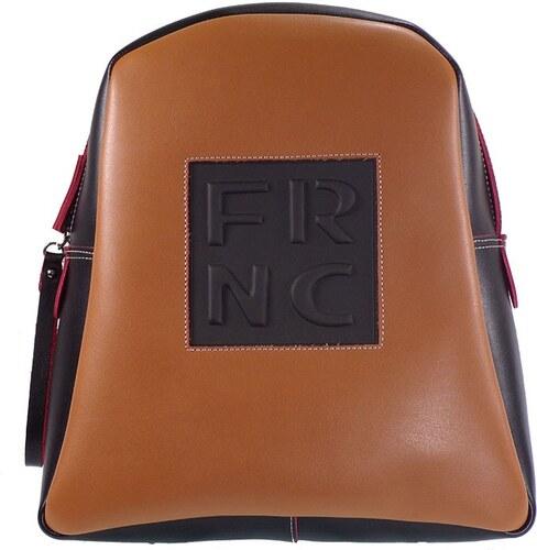 2f9748932a FRNC FRANCESCO Τσάντα Γυναικεία Πλάτης-Backpack 1202 Μαύρο-Ταμπά Δέρμα frnc  1202 mauro-