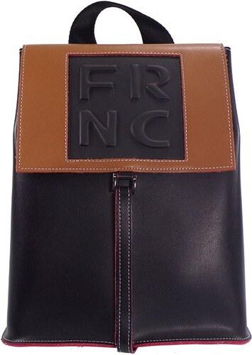 295d9ccec7 FRNC FRANCESCO Τσάντα Γυναικεία Πλάτης-Backpack 1025 Μαύρο-Ταμπά Δέρμα frnc  1025 mayro-