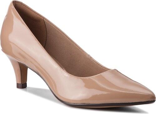 Κλειστά παπούτσια CLARKS - Linvale Jerica 261381984 Nude Patent ... 29851094991