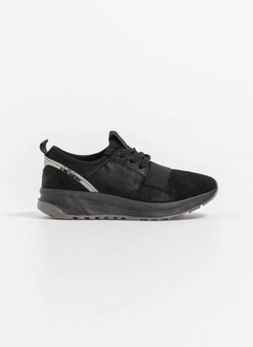 The Fashion Project Slip on sneakers με glitter suede - Μαύρο - 002 ... 522ba6e4d93