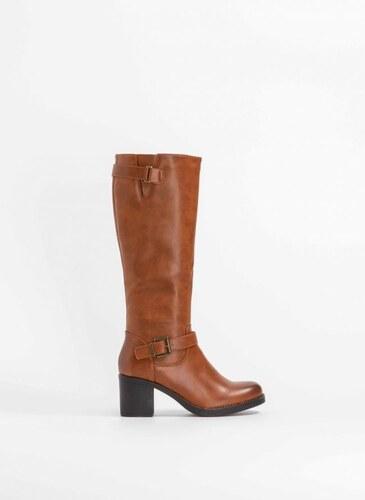 db1f602ff0 The Fashion Project Μπότες με τετράγωνο τακούνι - Ταμπά - 006 - Glami.gr