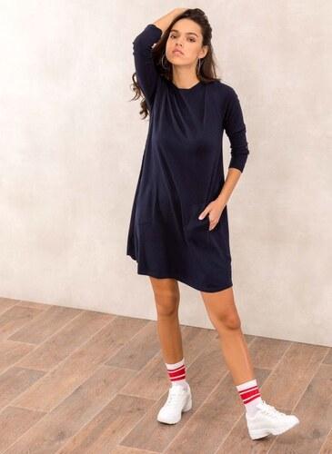8c55f665abc5 The Fashion Project Φόρεμα με λεπτή πλέξη - Μπλε σκούρο - 05472023013