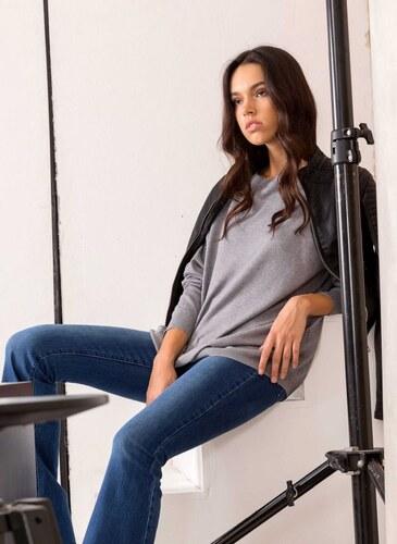 -20% The Fashion Project Basic πλεκτό με φερμουάρ στην πλάτη - Γκρι - 013 710687f2af9