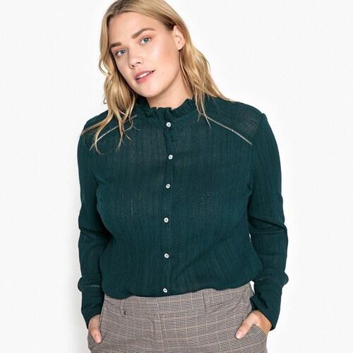 790a43720234 CASTALUNA Μακρυμάνικο βαμβακερό πουκάμισο με όρθιο γιακά - Glami.gr