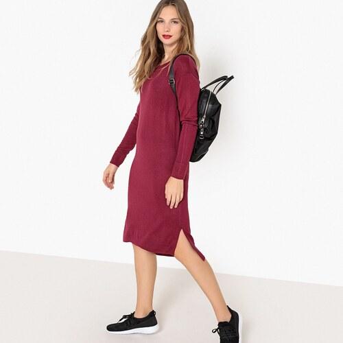 -50% LA REDOUTE COLLECTIONS Μακρυμάνικο μίντι φόρεμα σε ίσια γραμμή 78fcc9eef0f