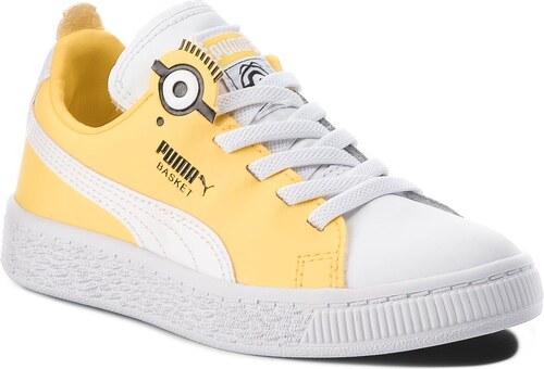 d608f342f13 Αθλητικά PUMA - Minions Basket Bs Ac Ps 366562 01 Puma White/Black/Dandelion