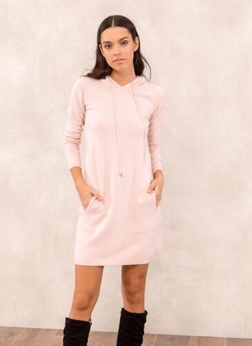 3240b55ca163 The Fashion Project Πλεκτό casual φόρεμα με κουκούλα - Ροζ - 05467012010