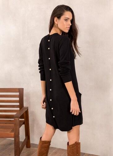The Fashion Project Πλεκτό φόρεμα με πέρλες - Μαύρο - 013 - Glami.gr 019bc9080cb