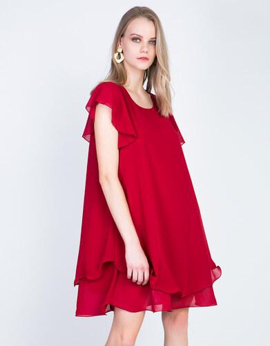 42d4b2757b86 Lynne Κοντό κλος φόρεμα με βολάν - Glami.gr