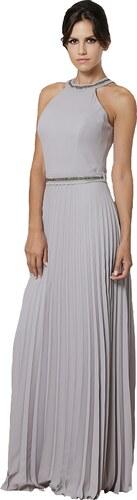 855ccd53443 Maxi φόρεμα πλισέ με strass στο λαιμό - Glami.gr