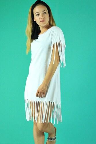 8bc74eb80e3 Petit Boutik Φόρεμα Παραλίας Άσπρο με Κρόσια S/M - Glami.gr