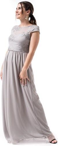 OEM Γκρι Μακρύ Φόρεμα Δαντέλα Τούλι - Glami.gr 381684ca4c7