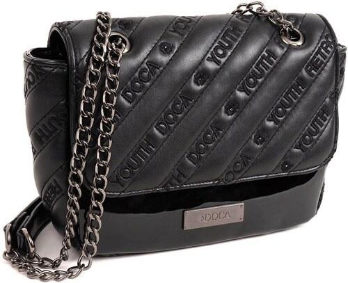 DOCA Τσάντα χιαστί μαύρη (13861) - Glami.gr eb4aae4a156