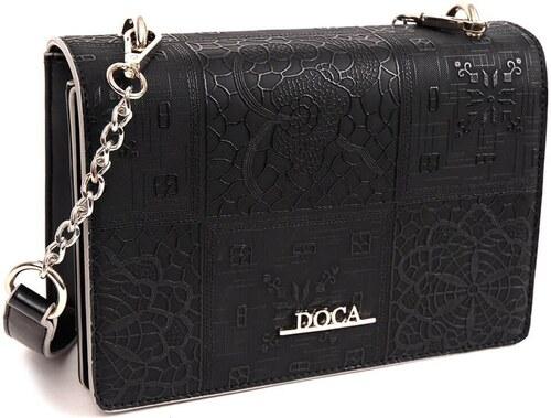 DOCA Τσάντα χιαστί μαύρη (13868) - Glami.gr a3dd05104e7