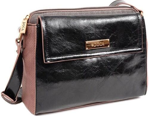 DOCA Τσάντα χιαστί μαύρη (13956) - Glami.gr 8dbd4a54229