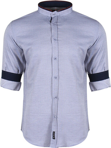 6f90ab1cf199 Be-casual Ανδρικό Πουκάμισο Bract Grey Small - Glami.gr