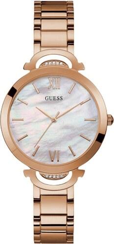 Ρολόι Guess με ροζ χρυσό μπρασελέ και κρύσταλλα W1090L2 - Glami.gr 0094b50993d