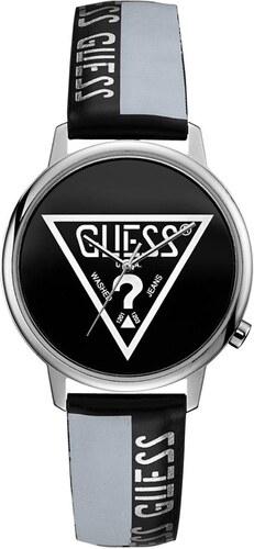 Ρολόι Guess με μαύρο και λευκό λουράκι και το λογότυπο V1015M1 ... a6be2105240
