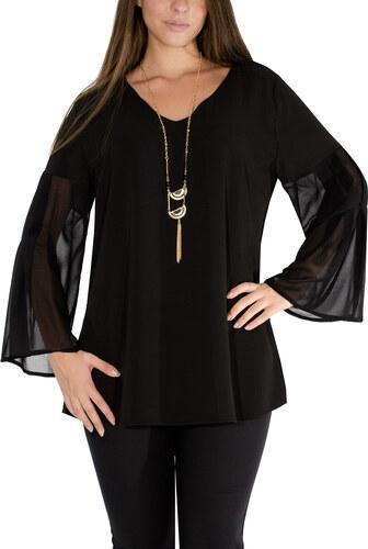 74ad28336d26 RAVE Μαύρη αμπιγιέ μπλούζα - Glami.gr