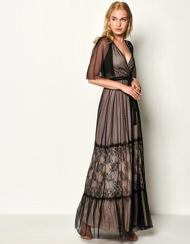 efaaf6b0fbc Lynne Φόρεμα με πουά δαντέλα - Glami.gr
