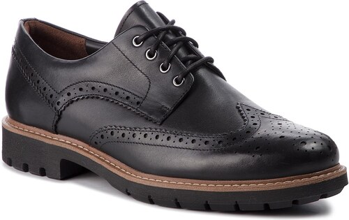6eb540cddcd Κλειστά παπούτσια CLARKS - Batcombe Wing 261271927 Black Leather ...