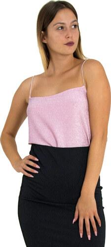 Γυναικείο ροζ τοπ ραντάκι ιριδίζον Coocu 36121 - Glami.gr 96307070f86