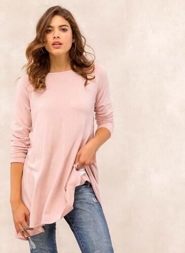49cd0bbe0a95 The Fashion Project Ασύμμετρη πλεκτή μπλούζα - Ροζ - 05475012013 ...