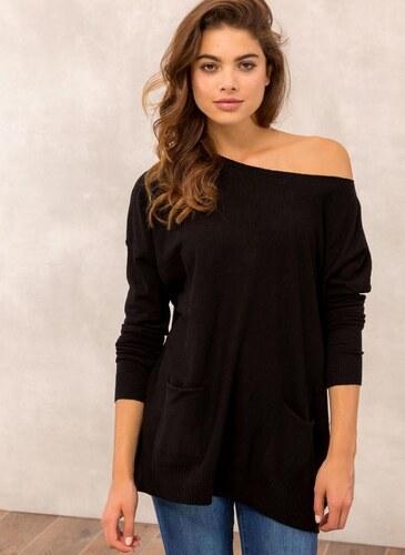 eeaae6abbd51 The Fashion Project Oversized πλεκτή μπλούζα με τσεπάκια - Μαύρο - 013