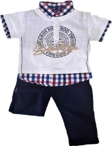 fea14fb9130 Σετ μπλούζα-πουκάμισο με παντελόνι Energiers - Glami.gr