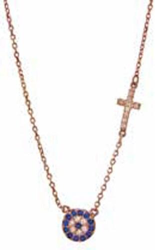 Watchmarket.gr Κολιέ ροζ χρυσό ασήμι 925 με στόχο και σταυρό - Glami.gr 2f8e24ff7c0