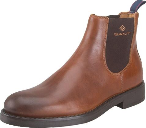 f47b6dc137dc -49% Ανδρικά Δερμάτινα Μποτάκια Gant Oscar 17651904 leather G45 Cognac