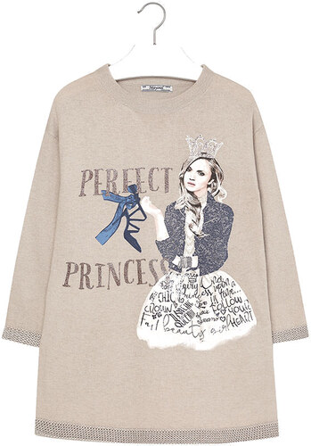 304c9a19f6a Φόρεμα πλεκτό princess Mayoral 7938 - μπεζ Girl 8-16 years - Glami.gr