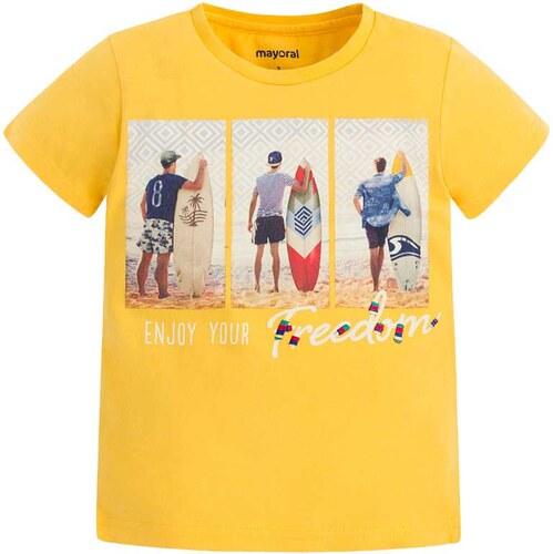 7296959779a3 Μπλουζα κοντομανικη σερφιστες Mayoral 2803085 - κιτρινο Boy 2-7 years