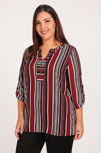 40e7a226ff13 Dina XL Ριγέ μπλούζα με φερμουάρ - Glami.gr
