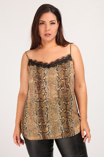 ab9ed4877161 Dina XL Εμπριμέ lingerie τοπ με δαντέλα - Glami.gr