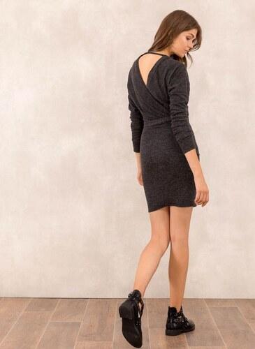 The Fashion Project Μάλλινο κρουαζέ φόρεμα - Ανθρακί - 001 - Glami.gr bd3d44e90e3