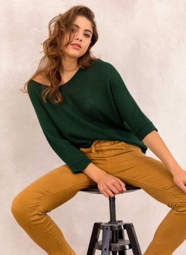 63f9cd939731 The Fashion Project Πλεκτή μπλούζα με μανίκι 3/4 - Κυπαρισσί - 001 ...