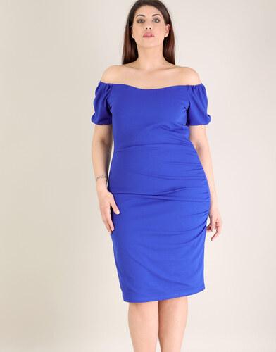 1fee8f28557 e-xclusive Έξωμο Εφαρμοστό Φόρεμα, Plus Size - Glami.gr