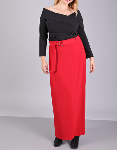 e-xclusive Κόκκινη μάξι φούστα - Glami.gr 72cce84e9a9