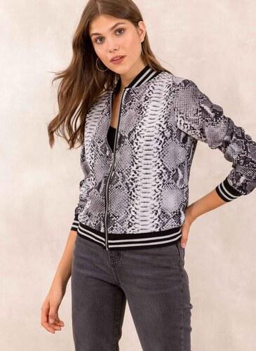 7687222d5853 The Fashion Project Snakeprint jacket - Λευκό Μαύρο - 001 - Glami.gr