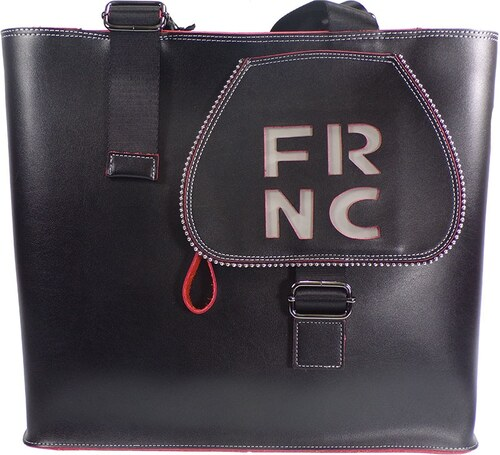FRNC FRANCESCO Τσάντα Γυναικεία Ώμου 1265 Μαύρο Δέρμα frnc 1265 mauro 6f189bcd1cb