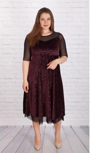 21a6354cafa Βελούδινο φόρεμα   Γυναικεία ρούχα μεγάλο μέγεθος SIRENA plus - Glami.gr
